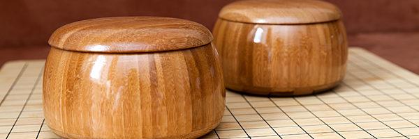 Бамбуковые чаши для игры Го